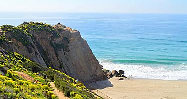 View of Point Dume in Malibu, California
