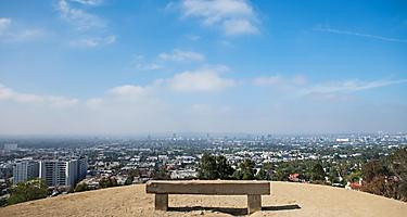 The view of Los Angeles, California from Runyon Canyon Park