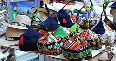 An assortment of headdresses and hats in Madeira (Funchal), Portugal