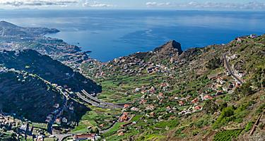 View of Madeira (Funchal), Portugal from a mountain