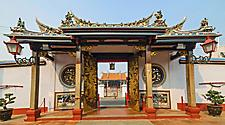Gate of Cheng Hoon Teng temple, a Chinese Taoist temple in Malacca, Malaysia