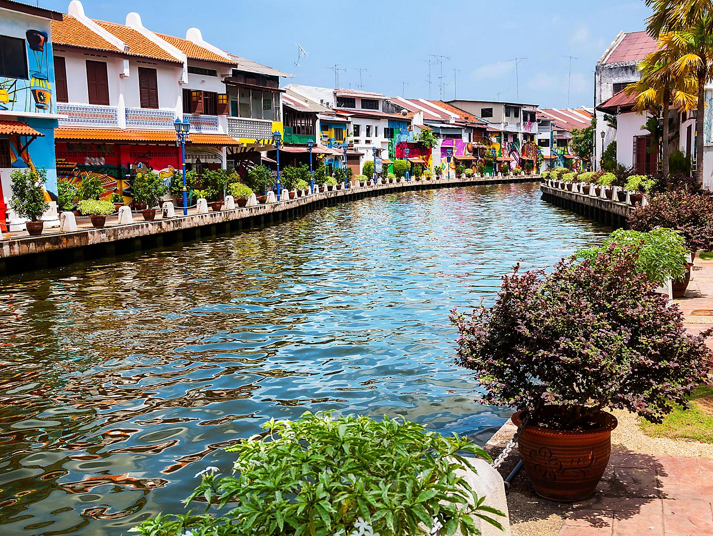 Malacca, Malaysia Historical River Landscape