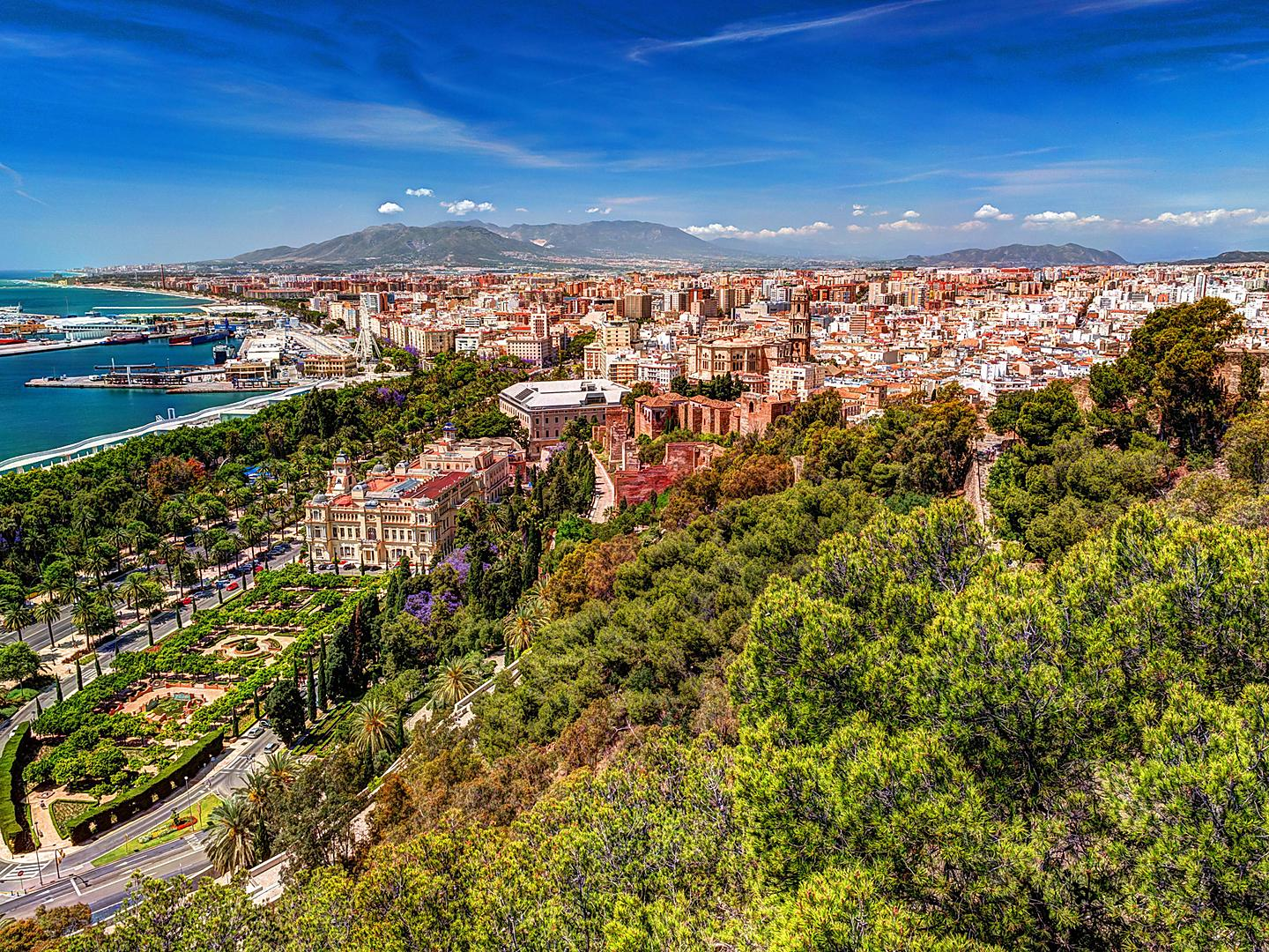 Málaga, Spain Aerial View