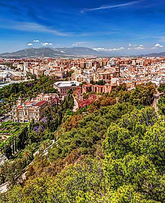 Aerial view of Malaga, Spain