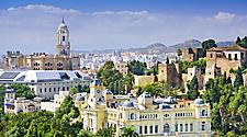The Malaga, Spain cityscape