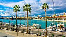 A marina in Malaga, Spain