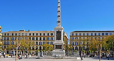 Plaza de la Merced in Malaga, Spain