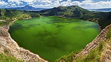 View of Taal, the smallest volcano in the world in Manila, Philippines