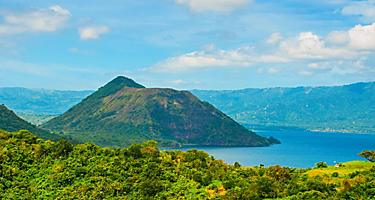 Taal volcano on an island in Manila, Philippines