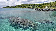 Coastal view of Mare, New Caledonia