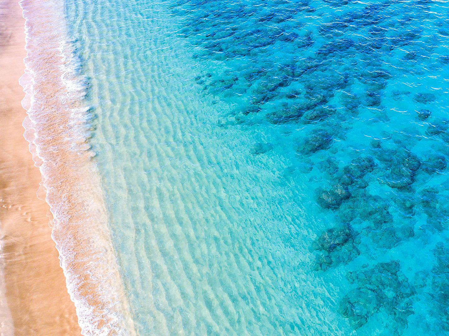 Lahaina, Maui, Hawaii Aerial View Crystal Blue Beach