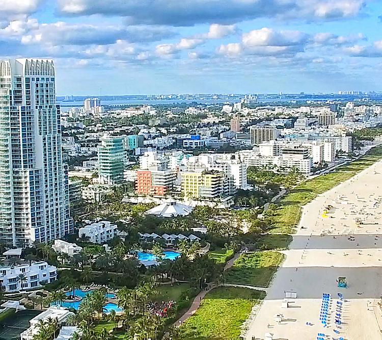 Miami Beach on a Sunny Day Blue Waters