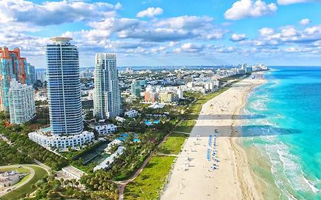 Sunny Day Miami Beach Skyrisers