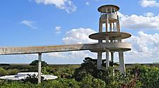 Shark Valley observation tower at Everglades National Park in Miami, Florida