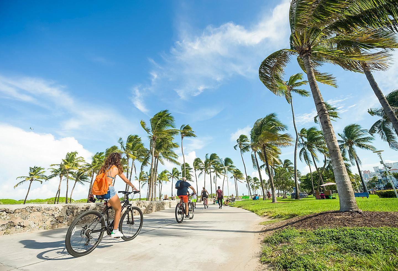 Miami Florida Ocean Drive Bike Ride