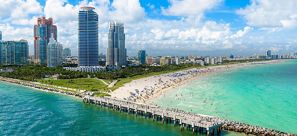 Miami Florida South Beach Aerial Ports