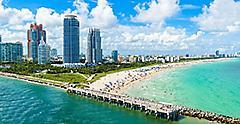 Aerial View of South Beach, Miami, Florida