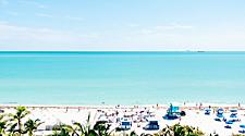 Sunny Day at South Beach in Miami, Florida