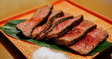 A plate of wagyu beef in Japan