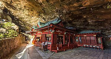 Udo jingu, a Shinto shrine located on Nichinan coastline, Kyushu, Japan.