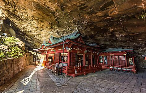 Udo jingu, a Shinto shrine located on Nichinan coastline, Kyushu, Japan.