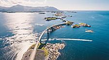 Aerial view of the Atlantic Road in Norway
