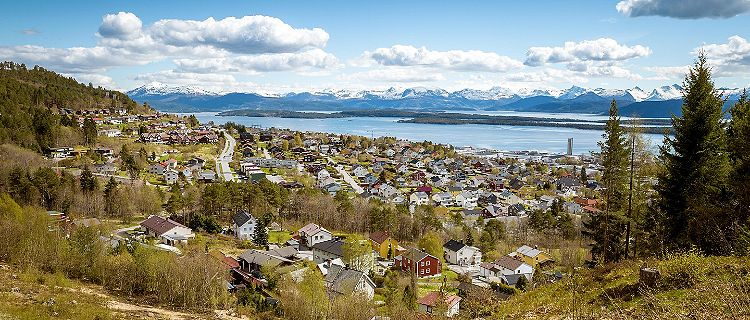 Panoramic view of buildings in Molde, Norway