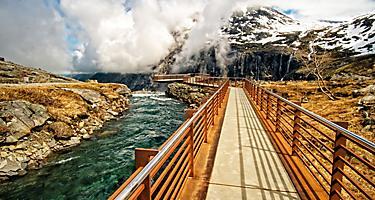 The Stigfossen waterfall catwalk in Norway