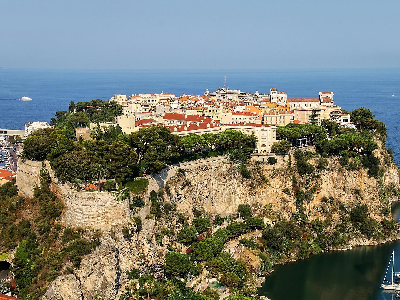 Monte Carlo, Monaco The Rock Of Monaco