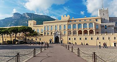 The Prince's Palace of Monaco, the official residence of the Sovereign Prince of Monaco, in Monte Carlo, Monaco