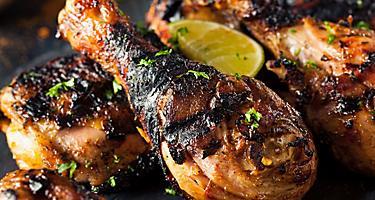 montego bay jamaica jerk chicken drumstick