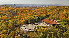 Aerial view of Mount Royal belvedere in Montreal, Quebec