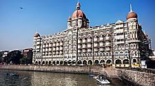 Famous Taj Mahal hotel in Mumbai, India