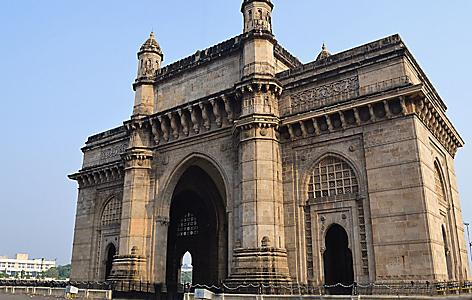 Gateway of India, arch monument in Mumbai, India