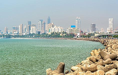 View of Mumbai, India, from Marine Drive