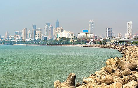 View of Mumbai, India, from Marine Drive