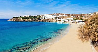Agios Stefanos Beach in Mykonos, Greece