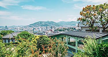 Glover Garden, nature and city view in Nagasaki, Japan