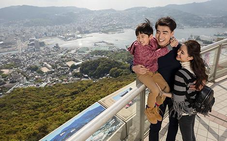 Nagasaki Japan Family Enjoying the View