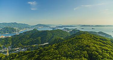 View from Mt. Inasa in Nagasaki, Japan