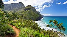 View from the Kalalu Trail along Napali Coast, Hawaii