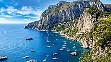 An aerial view of Capri
