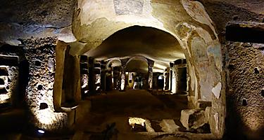 The Catacombs of San Gennaro in Italy