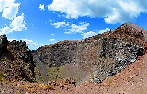 The crater of Mount Vesuvius