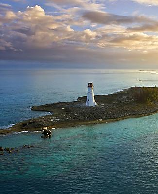 Western end of Paradise Island at sunset, Nassau, Bahamas