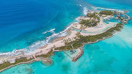 Aerial of Pearl Island, Nassau, Bahamas