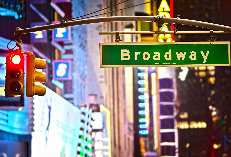 New York Broadway Theater Strip