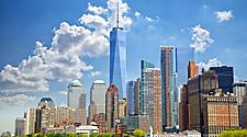 View of the skyscapers in lower Manhattan, New York
