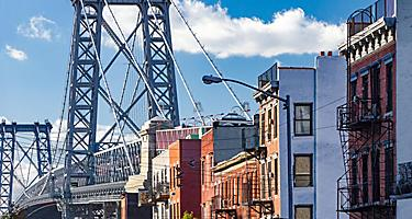 Buildings in Brooklyn, New York near the Williamsburg Bridge