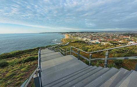 ANZAC Memorial Walk and Bar Beach in Newcastle, Australia